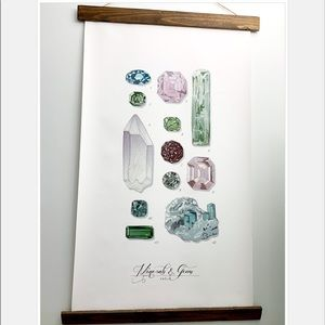 Minerals Vol. 2 Canvas Wall Hanging_Etsy Purchase